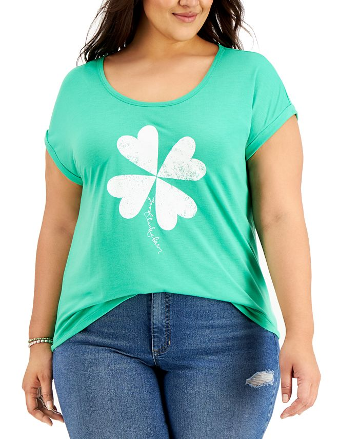 Style & Co - Plus Size Clover Graphic T-Shirt