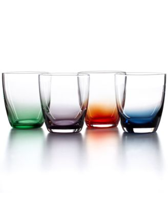 The Cellar Set of 4 Assorted Color Short Tumblers