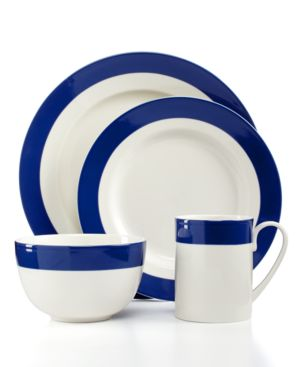 Martha Stewart Collection Classic Band Cobalt 4-Piece Place Setting