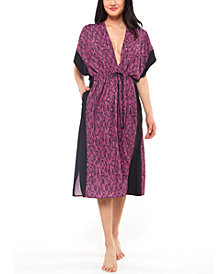 Jessica Simpson Snakecharmer Printed Cover-Up Dress