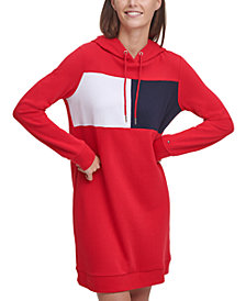 Tommy Hilfiger Logo Sweatshirt Hoodie Dress