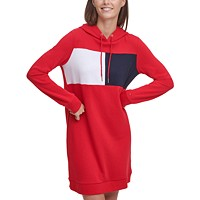Deals on Tommy Hilfiger Colorblocked Hoodie Dress