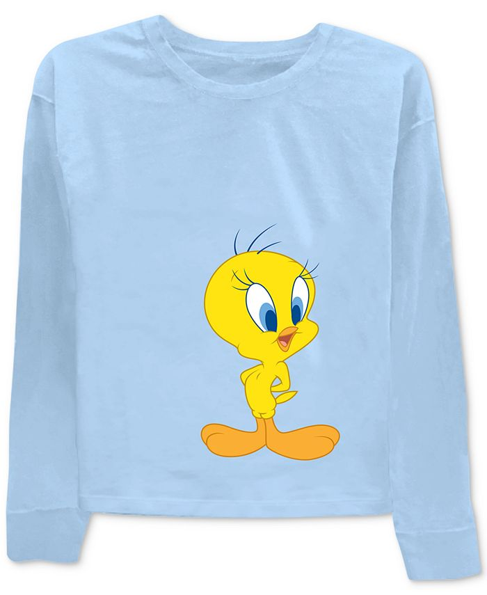 Warner Brothers - Tweety & Sylvester Front & Back Graphic-Print T-Shirt