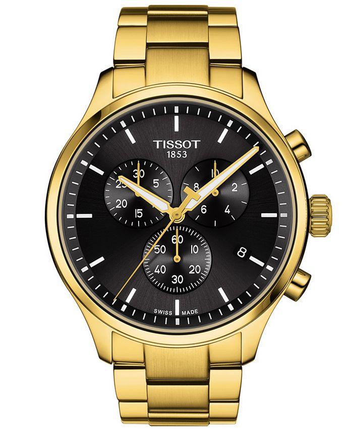Tissot - Men's Swiss Chronograph XL Classic Gold-Tone Stainless Steel Bracelet Watch 45mm