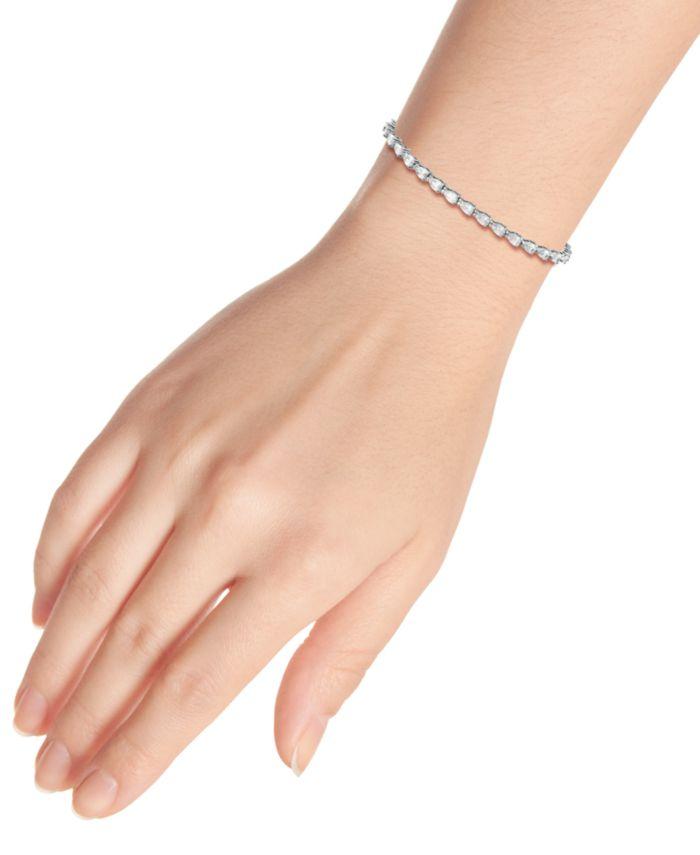 Giani Bernini Cubic Zirconia Pear-Cut Tennis Bracelet, Created for Macy's & Reviews - Bracelets - Jewelry & Watches - Macy's