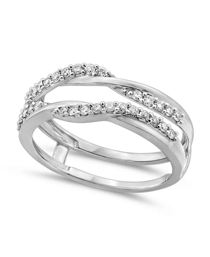 Macy's - Diamond Enhancer Ring Guard (1/3ct. tw.) in 14K White Gold