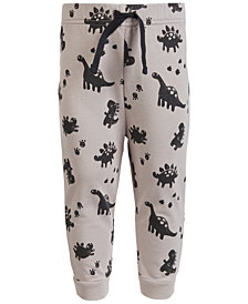 First Impressions Baby Boys Dino-Print Jogger Pants, Created for Macy's