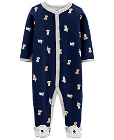 Carter's Baby Boys Koala Cotton Snap-Up Sleep and Play One Piece