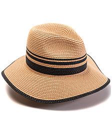 INC Blocked Straw Panama Hat, Created for Macy's