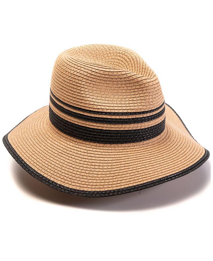 INC International Concepts - Blocked Straw Panama Hat