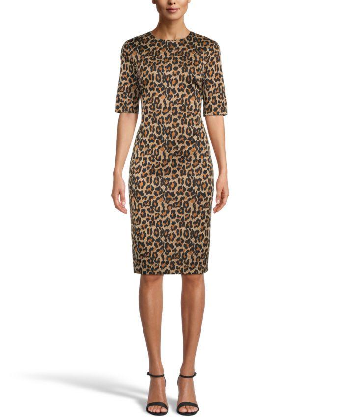 Anne Klein Animal-Print Sheath Dress & Reviews - Dresses - Women - Macy's