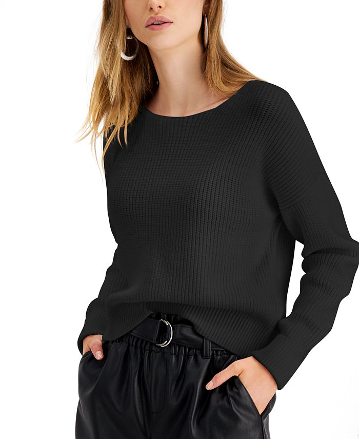 Bar III - Zip-Back Sweater