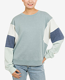 Hippie Rose Juniors' Colorblocked Sweatshirt