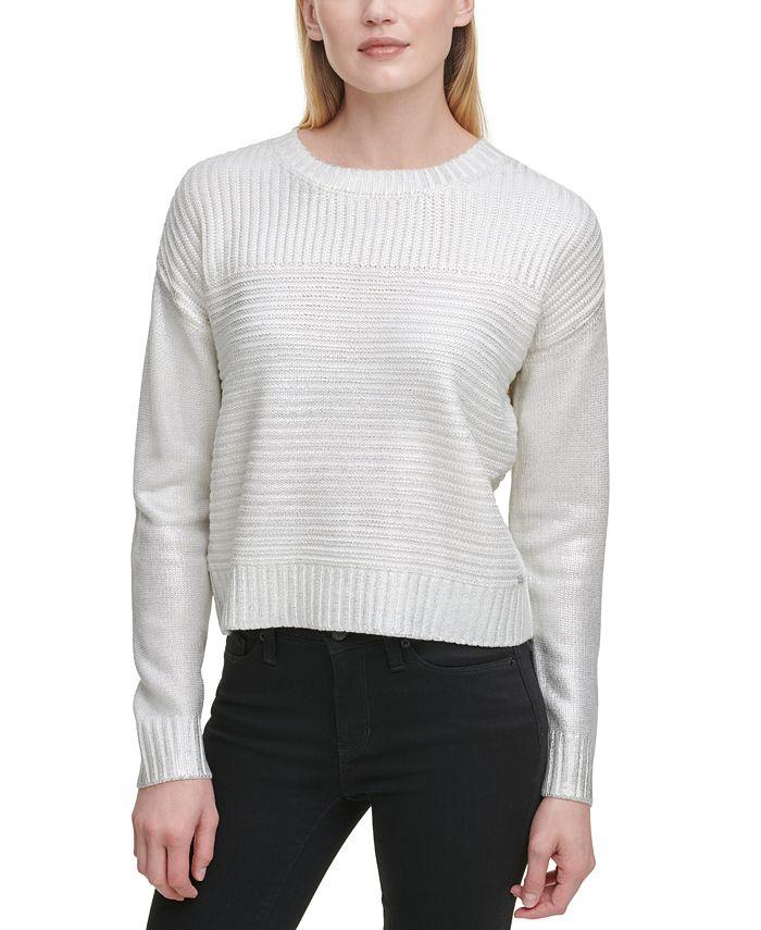 DKNY - Ribbed Metallic Sweater