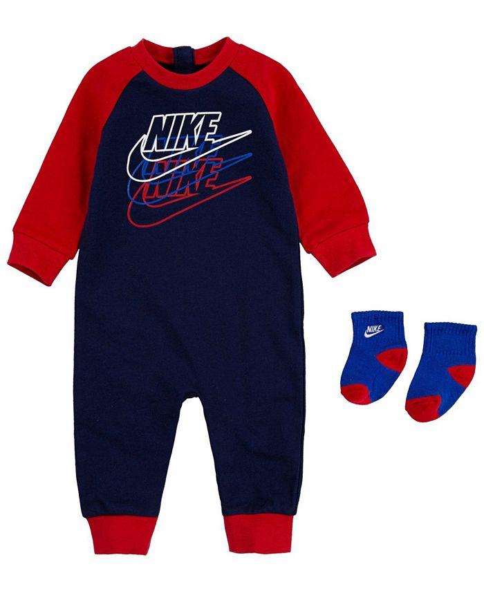 Nike - Baby Boys Futura Coverall Sock Set