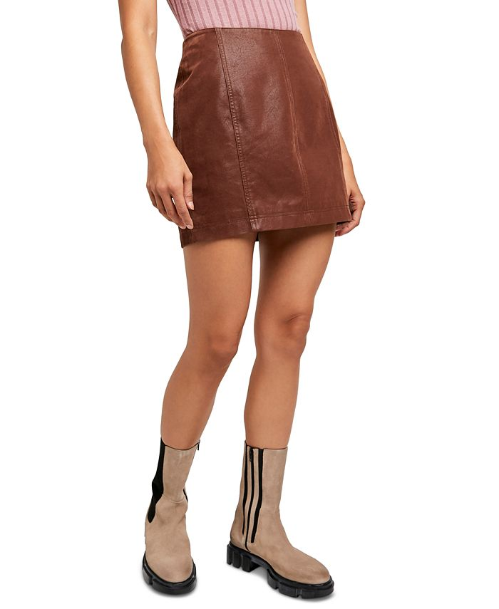 Free People - Modern Femme Faux-Leather Mini Skirt
