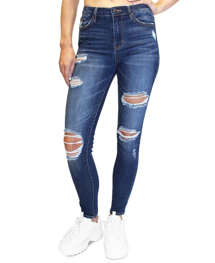 Almost Famous - Juniors' Distressed Skinny Jeans