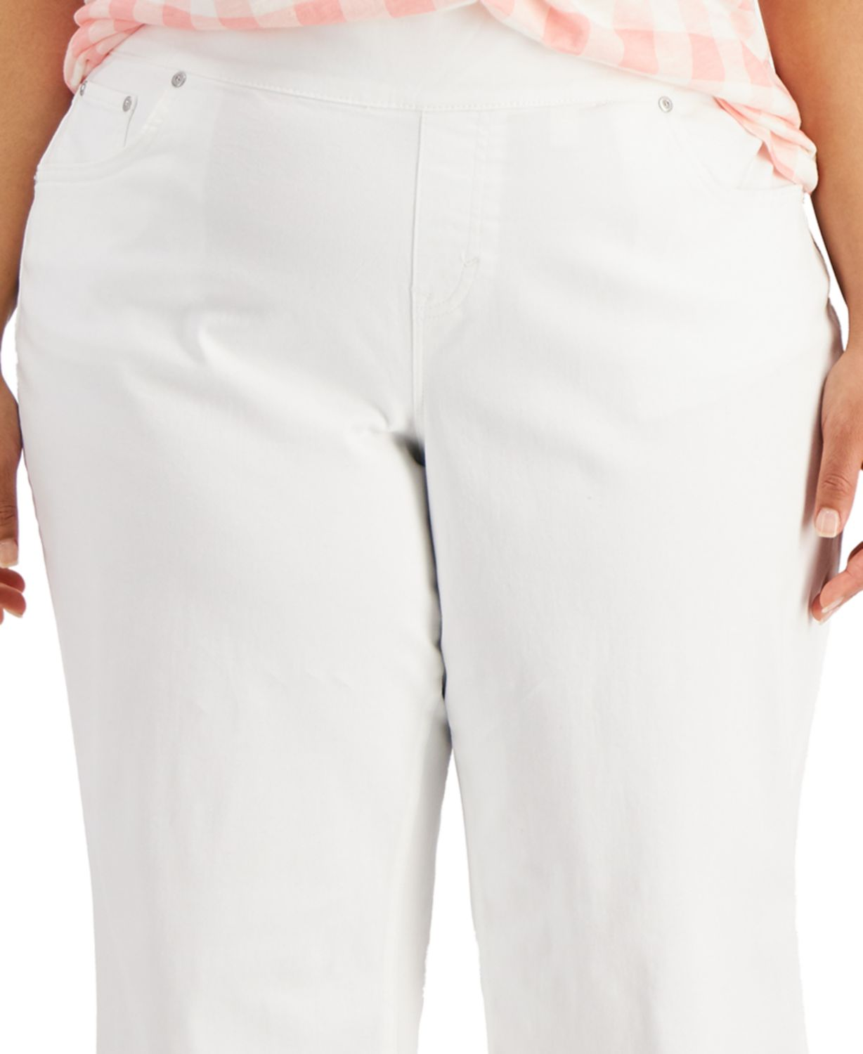 Style & Co Plus Size Ella Wide-Leg Cropped Jeans, Created for Macy's & Reviews - Jeans - Plus Sizes - Macy's