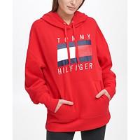 Tommy Hilfiger Sport Oversized Boyfriend Logo Hoodie Deals
