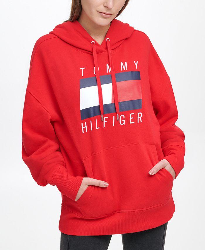 Tommy Hilfiger - Oversized Boyfriend Logo Hoodie