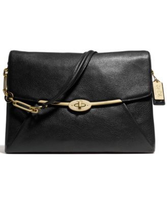 Coach Madison Shoulder Flap Bag In Leather 34