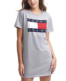 Tommy Jeans Flag Logo Cotton T-Shirt Dress