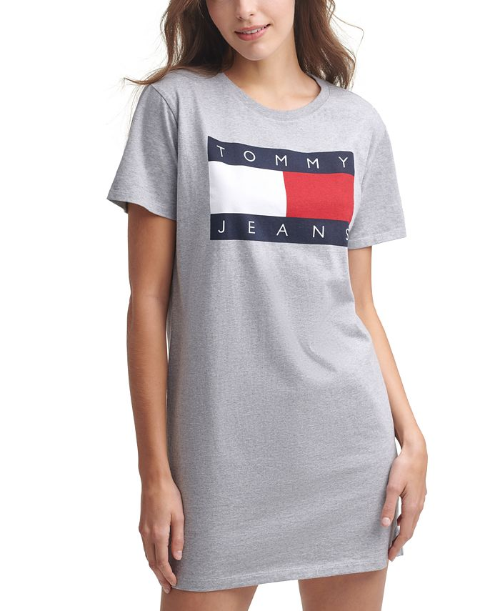 Tommy Jeans - Logo-Print Cotton T-Shirt Dress