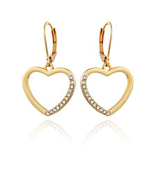 T Tahari Women's Pave Heart Drop Earring