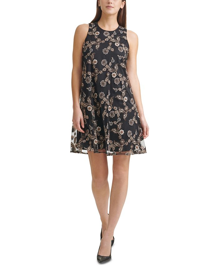 Calvin Klein - Chiffon A-Line Dress
