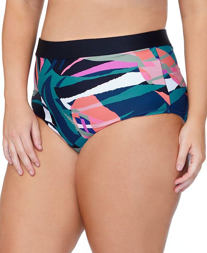 Raisins Curve - Trendy Plus Size Island Crystal Cove Printed Bikini Bottoms