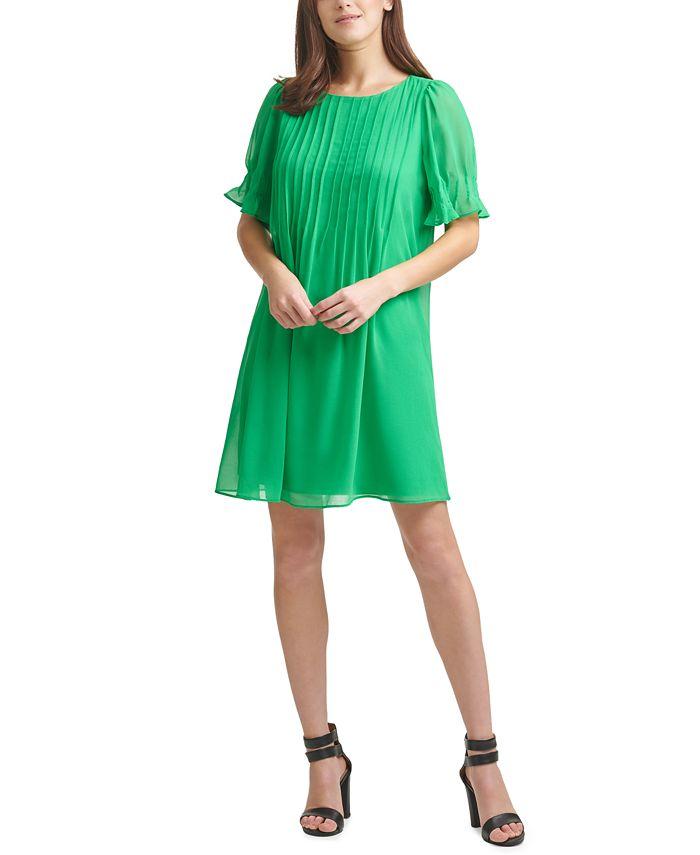 DKNY - Pleated Shift Dress