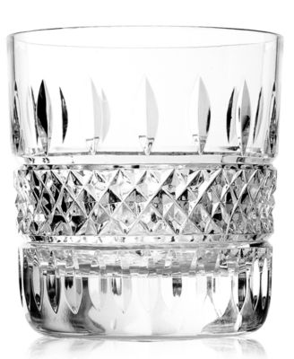 Set of 2 Waterford Irish Lace Double Old Fashioned Glasses