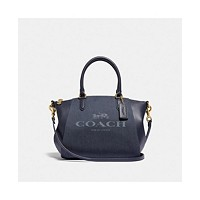 Deals on COACH Elise Jacquard Horse and Carriage Satchel