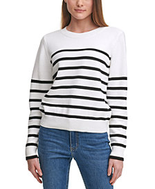 Calvin Klein Cotton Striped Sweater