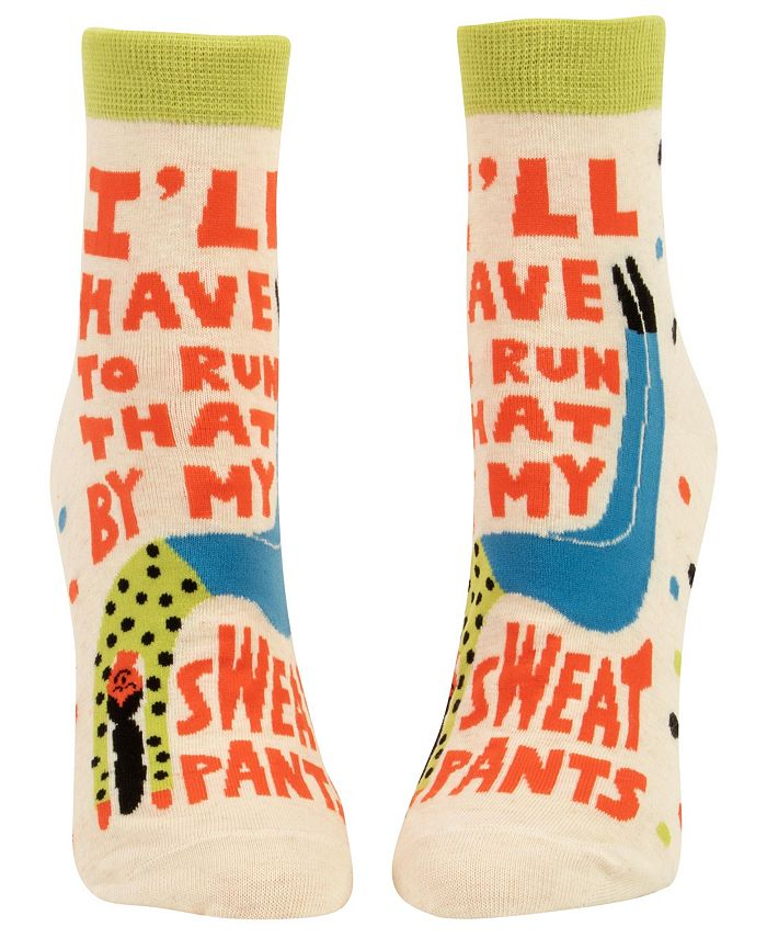 Blue Q - I'll Have to Run That by My Sweatpants Women's Ankle Socks