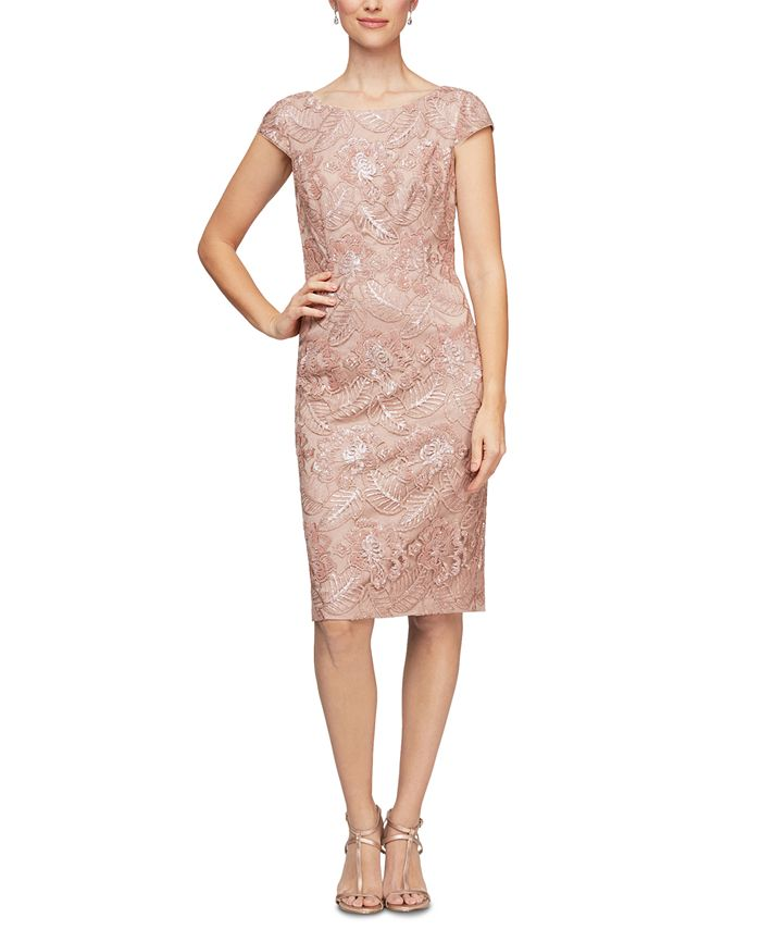 Alex Evenings - Sequin Embroidered Dress