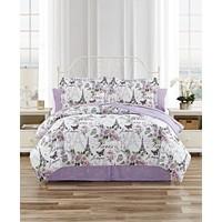 Mytex Paris Floral 6-Piece Reversible Twin Comforter Set