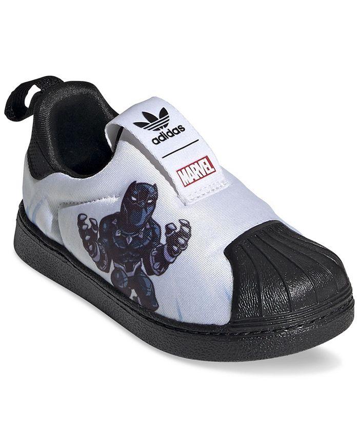 adidas Toddler Boys Superstar 360 Slip-On Marvel Black Panther ...