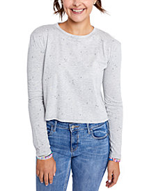 Sundown By Splendid Juniors' Zoe Printed Long-Sleeve T-Shirt