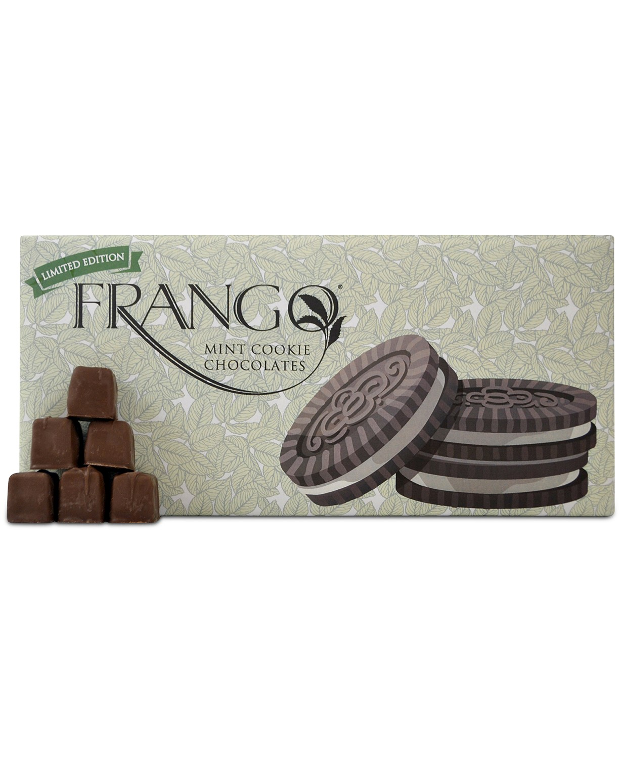 Frango Chocolates 1 LB Limited Edition Mint Cookie Box of Chocolates