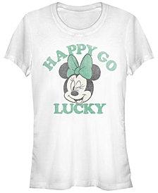 Juniors Disney Mickey Classic Lucky Minnie Cowl Neck T-shirt