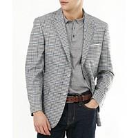 Tommy Hilfiger Men's Slim-Fit Gray & Blue Check Blazer (Light Grey)
