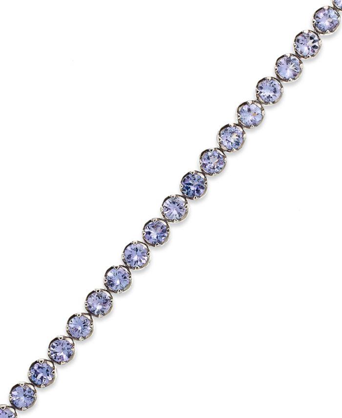 Macy's Sterling Silver Tanzanite Tennis Bracelet (10 ct. t.w.)  & Reviews - Bracelets - Jewelry & Watches - Macy's