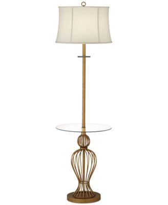 Uttermost floor lamp myron twist end table lighting for Macy s torchiere floor lamp