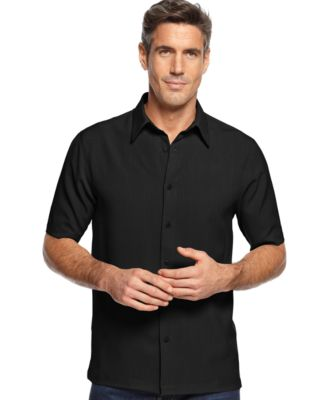 Image of John Ashford Short Sleeve Solid Texture Shirt