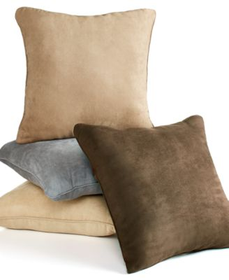"Sure Fit Soft Faux Suede 18"" Decorative Pillow"