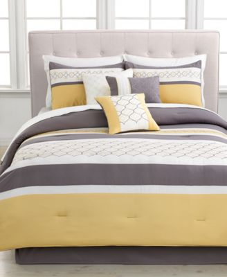 CLOSEOUT! Viscaya 7 Piece Queen Embroidered Comforter Set