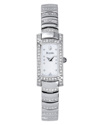 Bulova Watch, Women's Crystal Bracelet 96T13 - Bulova