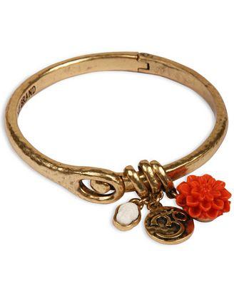 Lucky brand gold tone buddha charm cuff bracelet jewelry for Macy s lucky brand jewelry
