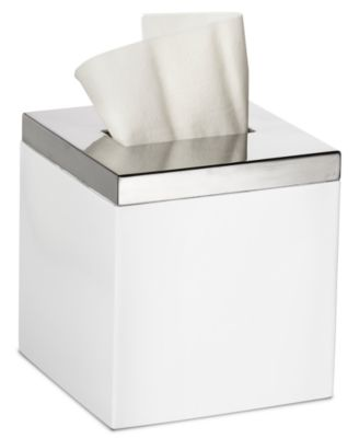 Roselli Trading Company Polished Stainless Steel Suite Room Tissue Holder